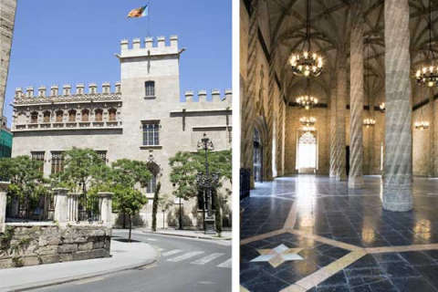 Imágenes de la Lonja de la Seda en Valencia