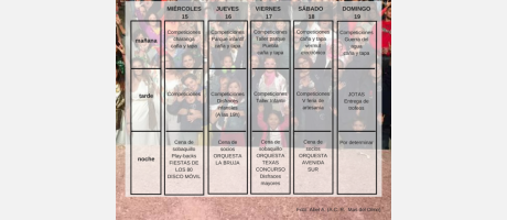programa de fiestas Mas del Olmo 2018