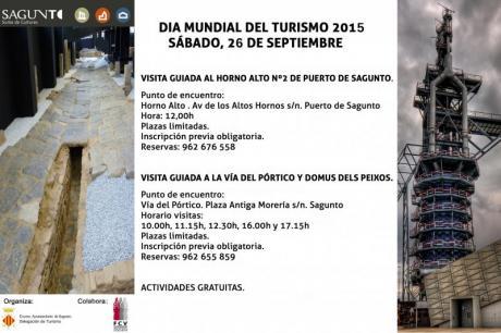 """Sagunto – Día Mundial del Turismo DMT-2015 – """"Sé turista en tu ciudad""""."""