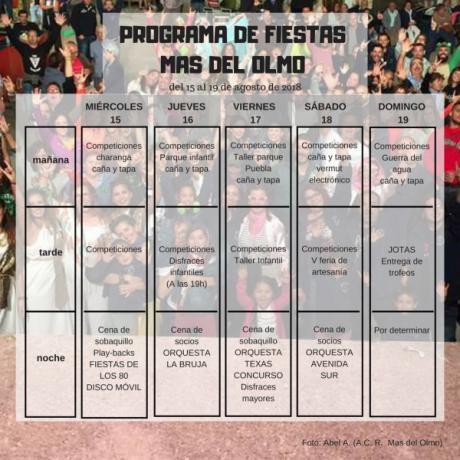 Fiestas de Mas del Olmo 2018