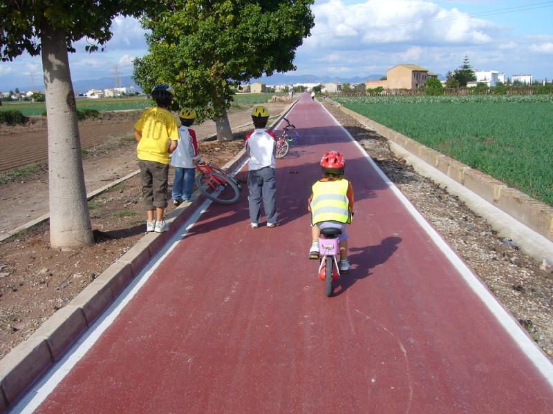 Paseo en bici por la Horta Nord valenciana;de Alboraya a la Pobla de Farnals