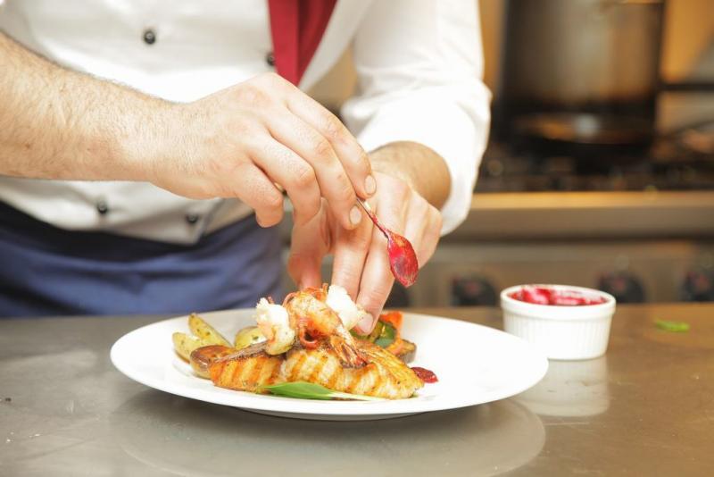 Chef en restaurante
