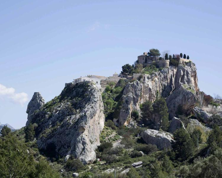 Vista del Castell de Guadalest