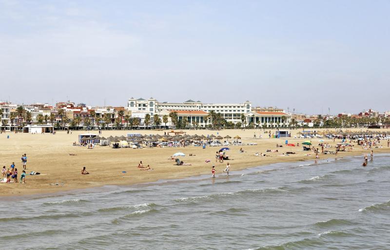 Vista de la playa de la Malvarrosa